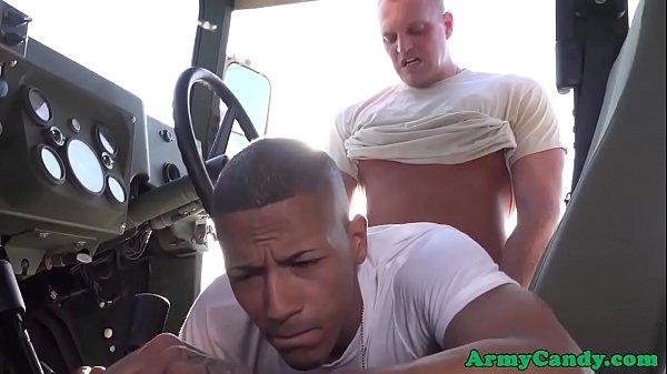 Uniform army amateurs anal fucking outdoors